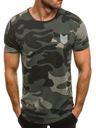 Breezy Obyčejné maskáčové tričko zelené BREEZY 708