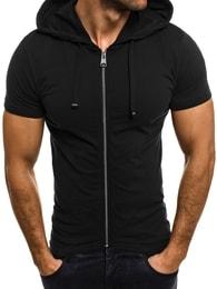 Athletic Módní černé pánské tričko na zip ATHLETIC 1118
