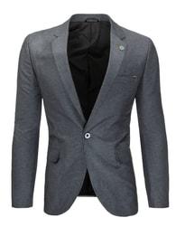 Ležérní pánské šedé sako