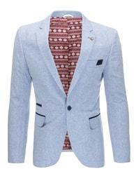 Ležérní světle modré pánské sako