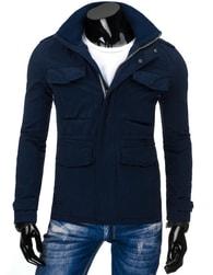 Tmavě modrá pánská atraktivní bunda - M