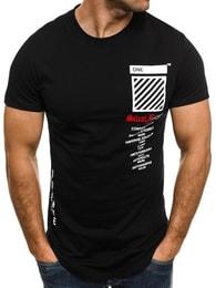 J. Style SILENT BLESSED Sportovní pánské černé tričko J.STYLE SS085