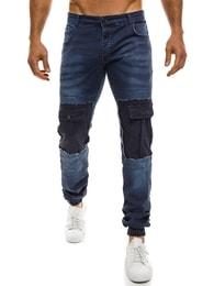 Otantik Sportovní tmavě modré baggy kalhoty OTANTIK 828