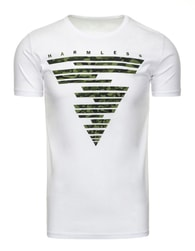 Moderní pánské bílé tričko HARMLESS