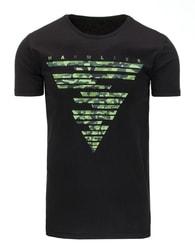 Černé moderní pánské tričko - XXL