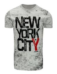 Nádherné šedé pánské tričko s potiskem - L