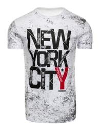 Sportovní pánské bílé tričko NEW YORK CITY