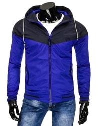Nádherná pánská modrá bunda - XL