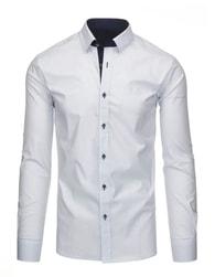 Elegantní pánská bílá košile SLIM FIT s jemným vzorem