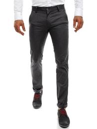Black Rock Tmavě šedé pánské chinos kalhoty BLACK ROCK 206 - 30