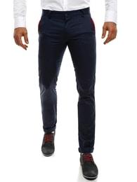 Black Rock Tmavě modré pánské elegantní kalhoty BLACK ROCK 206