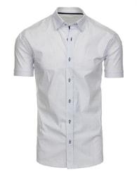 Bílá elegantní pánská košile s jemným vzorováním