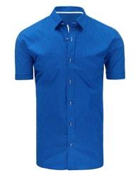 Jemně vzorovaná modrá SLIM FIT košile - XXL