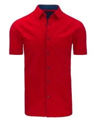 Moderní červená pánská košile