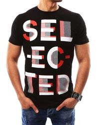Fantastické černé pánské tričko SELECTED - XXL