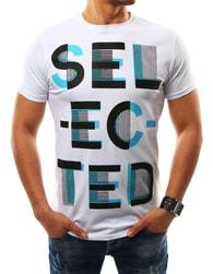 Stylové letní pánské tričko SELECTED bílé