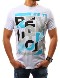 Jedinečné pánské bílé letní tričko