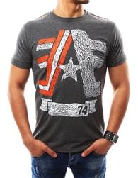Nádherné antracitové tričko s potiskem - XXL