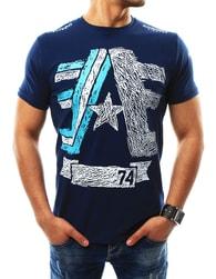 Módní tmavě modré pánské tričko