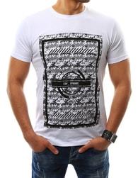 Jednoduché sportovní pánské tričko bílé