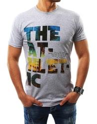 Sportovní šedé pánské tričko s potiskem - XL