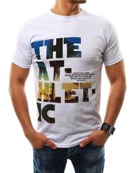 Stylové pánské bílé tričko THE ATHLETIC