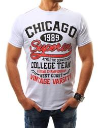 Bílé moderní pánské tričko CHICAGO