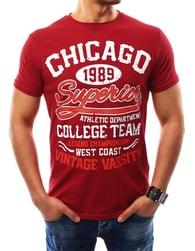 Fantastické červené tričko CHICAGO - XXL