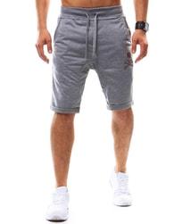Trendy pánské kraťasy s lebkou šedé - XL