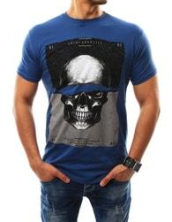 Fantastické pánské tričko s potiskem modré