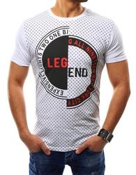 Bílé moderní pánské tričko LEGEND