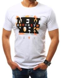 Trendy bílé pánské tričko BROOKLYN CITY - XL