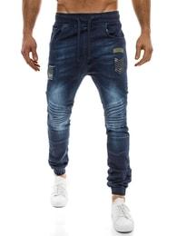Otantik Tmavě modré prošívané baggy kalhoty army styl OTANTIK 1810