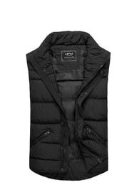 J. Style Trendy pánská prošívaná černá vesta 500