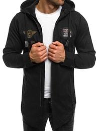 Athletic Černá moderní pánská bunda ATHLETIC 831