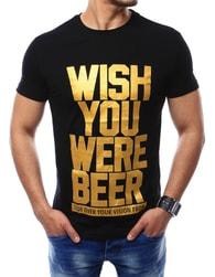Pánské trendové triko černé