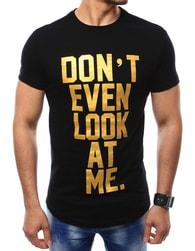 Stylové černé tričko s nápisem
