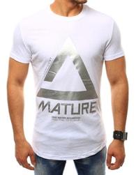 Jedinečné bílé tričko MATURE
