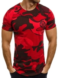Breezy Bavlněné červené army pánské tričko BREEZY 366 - XL