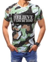 Barevné tričko s poutavým potiskem - XXL