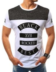 Trendy bílé tričko BLACK BEST