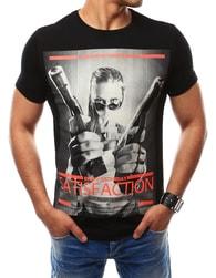 Černé pánské tričko SATISFACTION - XXL
