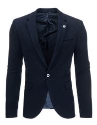 Tmavě modré pánské sako s odznakem