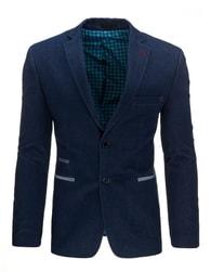Elegantní pánské sako módní granátové barvy - S