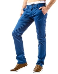 Pánske kalhoty nebesky modré barvy