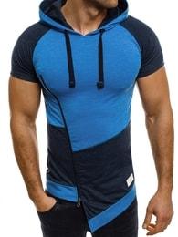 Athletic Stylové modré tričko s kapucí ATHLETIC 1102