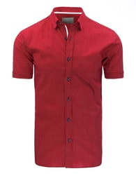 Tečkovaná červená košile