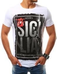 Pánské bílé tričko SICILIA - XL