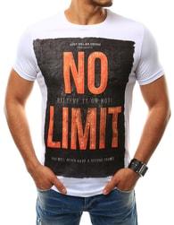 Bílé tričko s barevným nápisem NO LIMIT