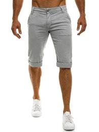Mario Classic Světlo-šedé krátké chino kalhoty MARIO CLASSIC 200 - 29